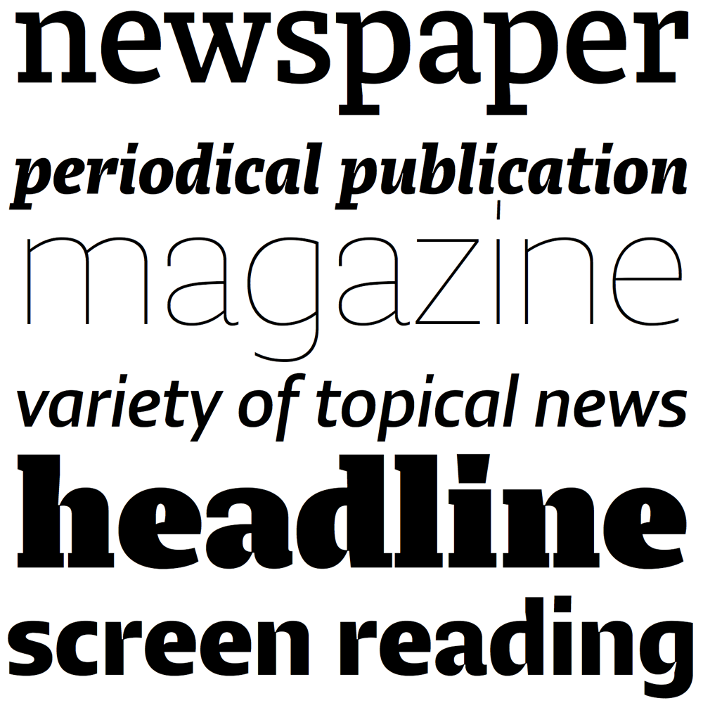 Lumin fonts specimen
