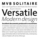 MVB               Solitaire fonts specimen