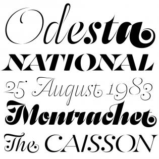 Odesta fonts specimen