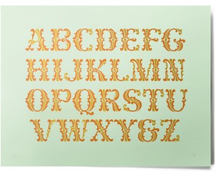 Carlyle Quaint Sampler Print, available from House Industries