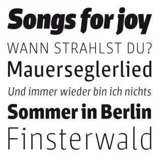 Sarre fonts specimen