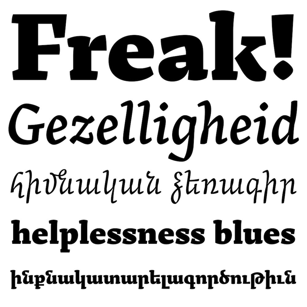 Arek fonts specimen