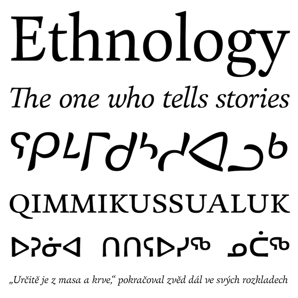 Huronia fonts specimen