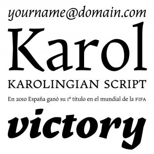 Karol fonts specimen