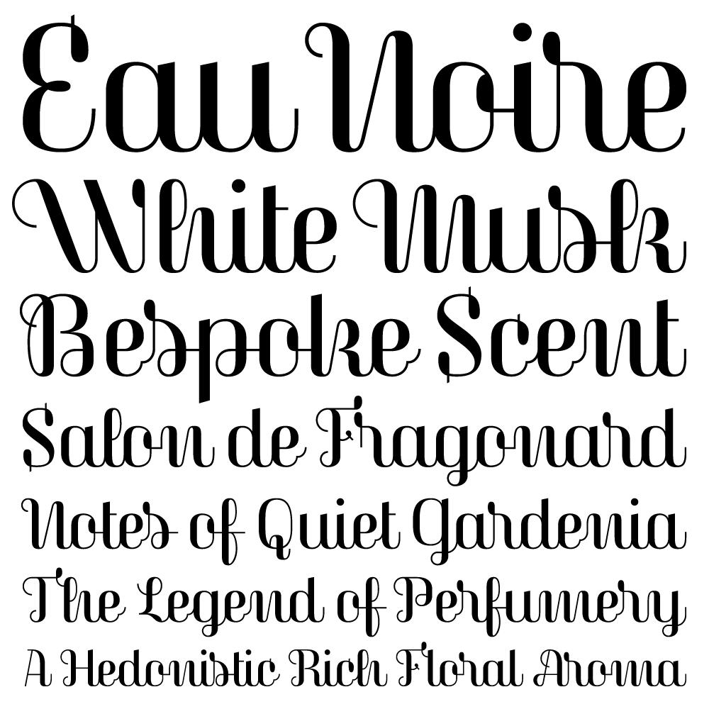 Magasin fonts specimen