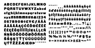 HWT Gothic Round glyphs