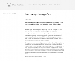 Lava for the Works That Work website