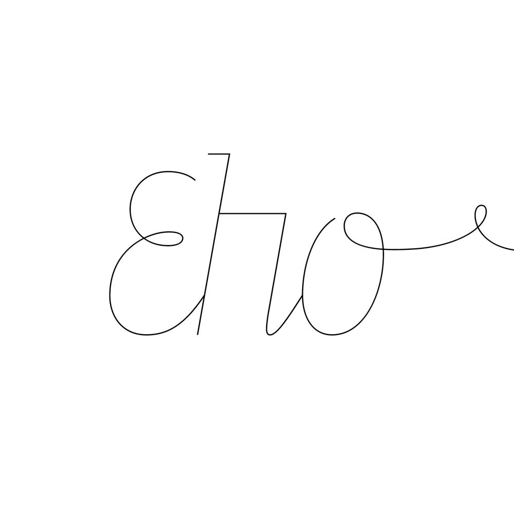 Line fonts specimen
