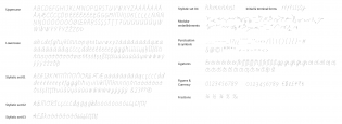 Line glyphs