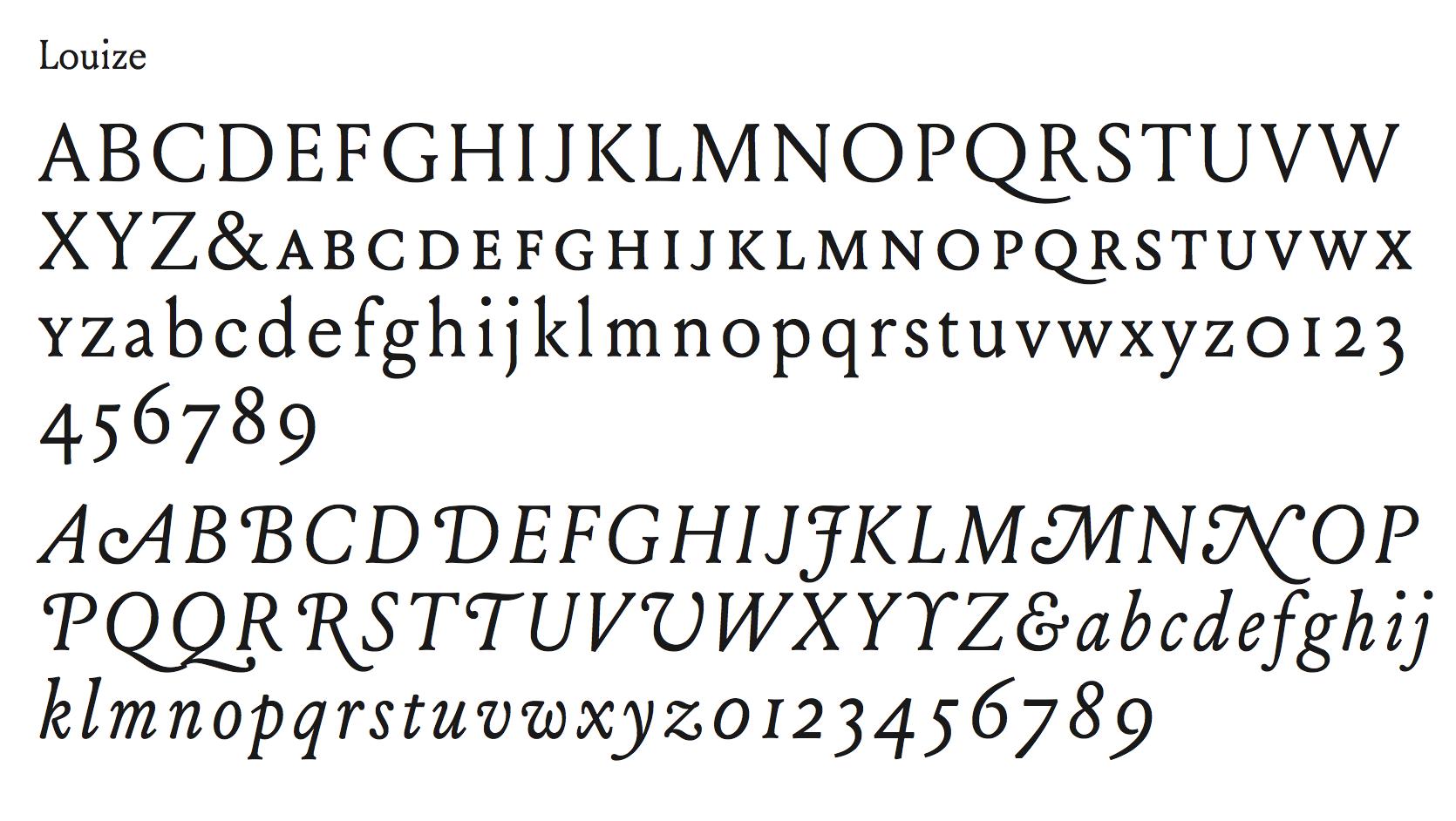 Louize basic glyph set