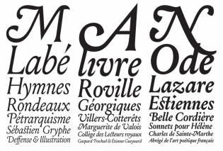 Louize Display Italic weights