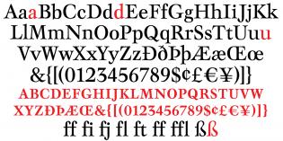 Mauritius roman glyphs