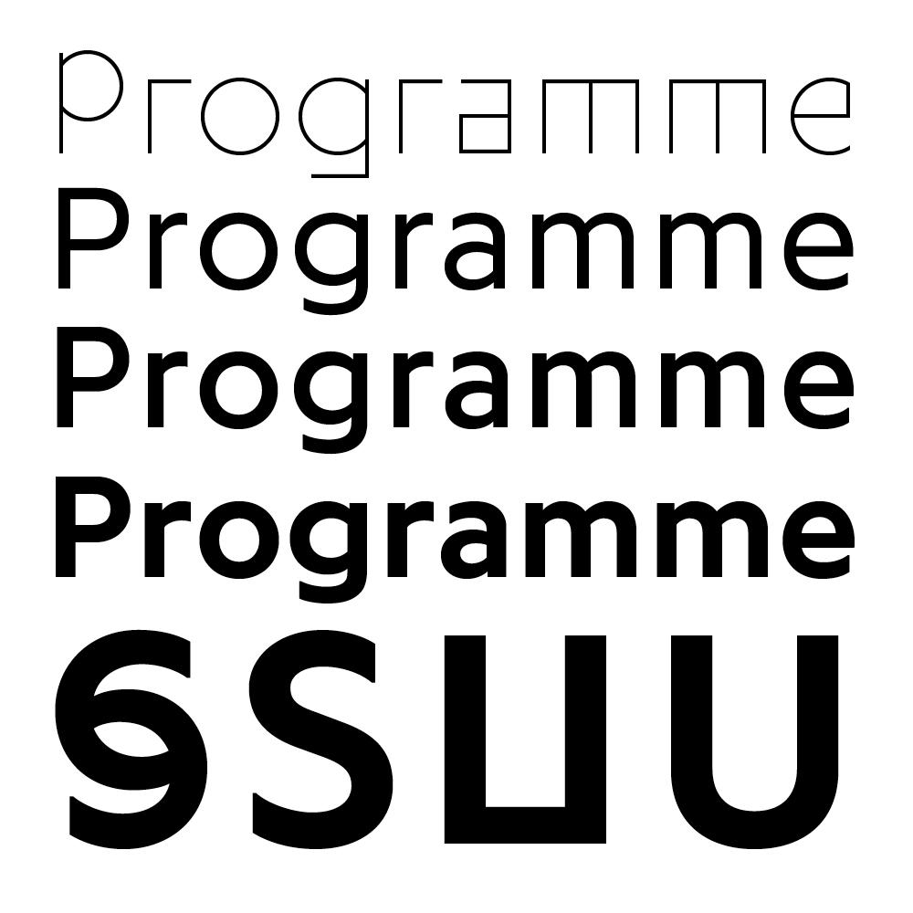 Programme fonts specimen