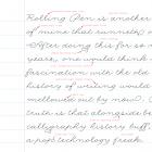 """Rolling Pen """"handwriting analysis"""" by Carolina de Bartolo"""