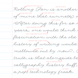 "Rolling Pen ""handwriting analysis"" by Carolina de Bartolo"