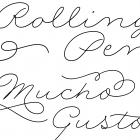 Rolling Pen fonts specimen