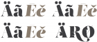 Salomé styles: Regular, Fine, Stencil, Decó