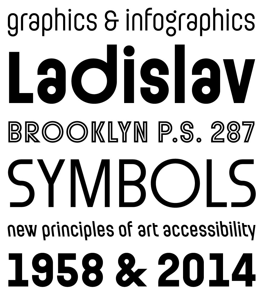 Ladislav fonts specimen