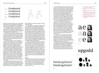 "A spread from the ""Vertical proportions"" section of the ""Design advice"" chapter."