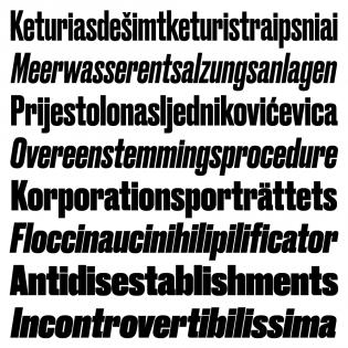 Druk, Roman + Italic