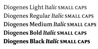 Diogenes italics