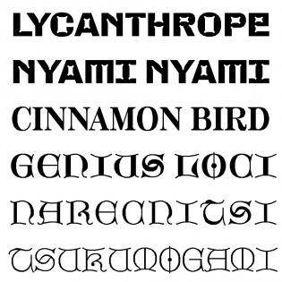 Minotaur Beef, Serif, and Lombardic