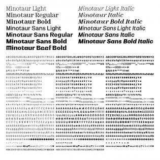 Minotaur glyph sets