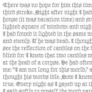 Marian Text Black