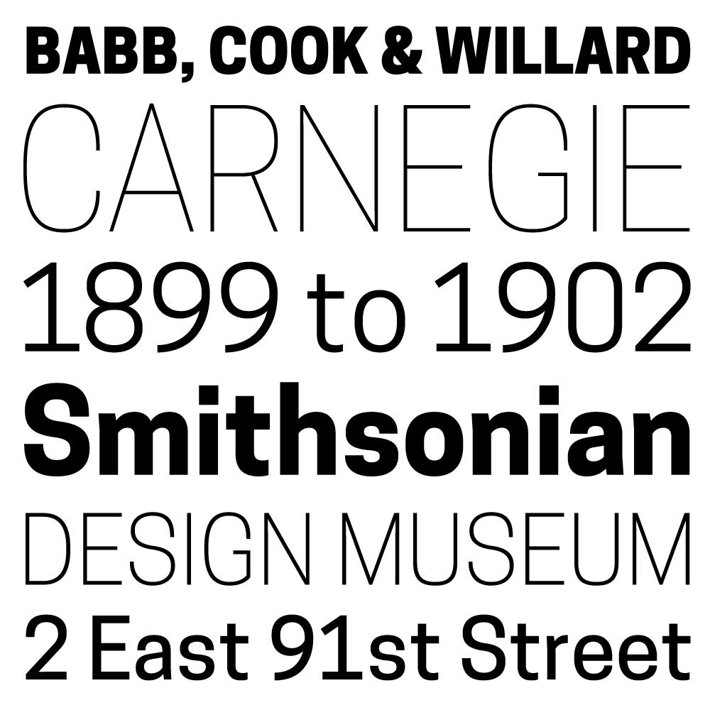 Cooper Hewitt: The Typeface specimen