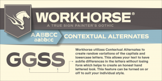 Workhorse contextual alternates