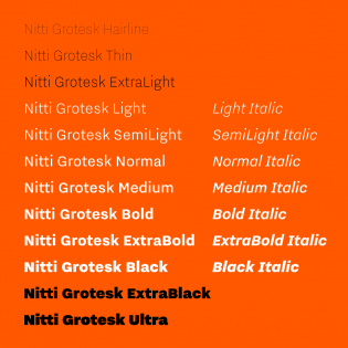 Nitti Grotesk styles