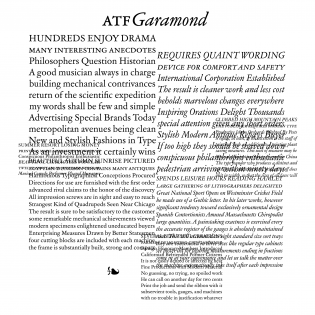 ATF Garamond fonts