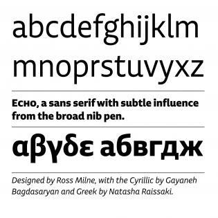 Echo fonts