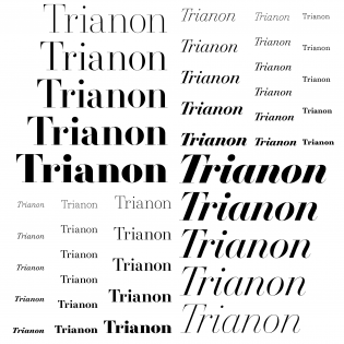Trianon fonts