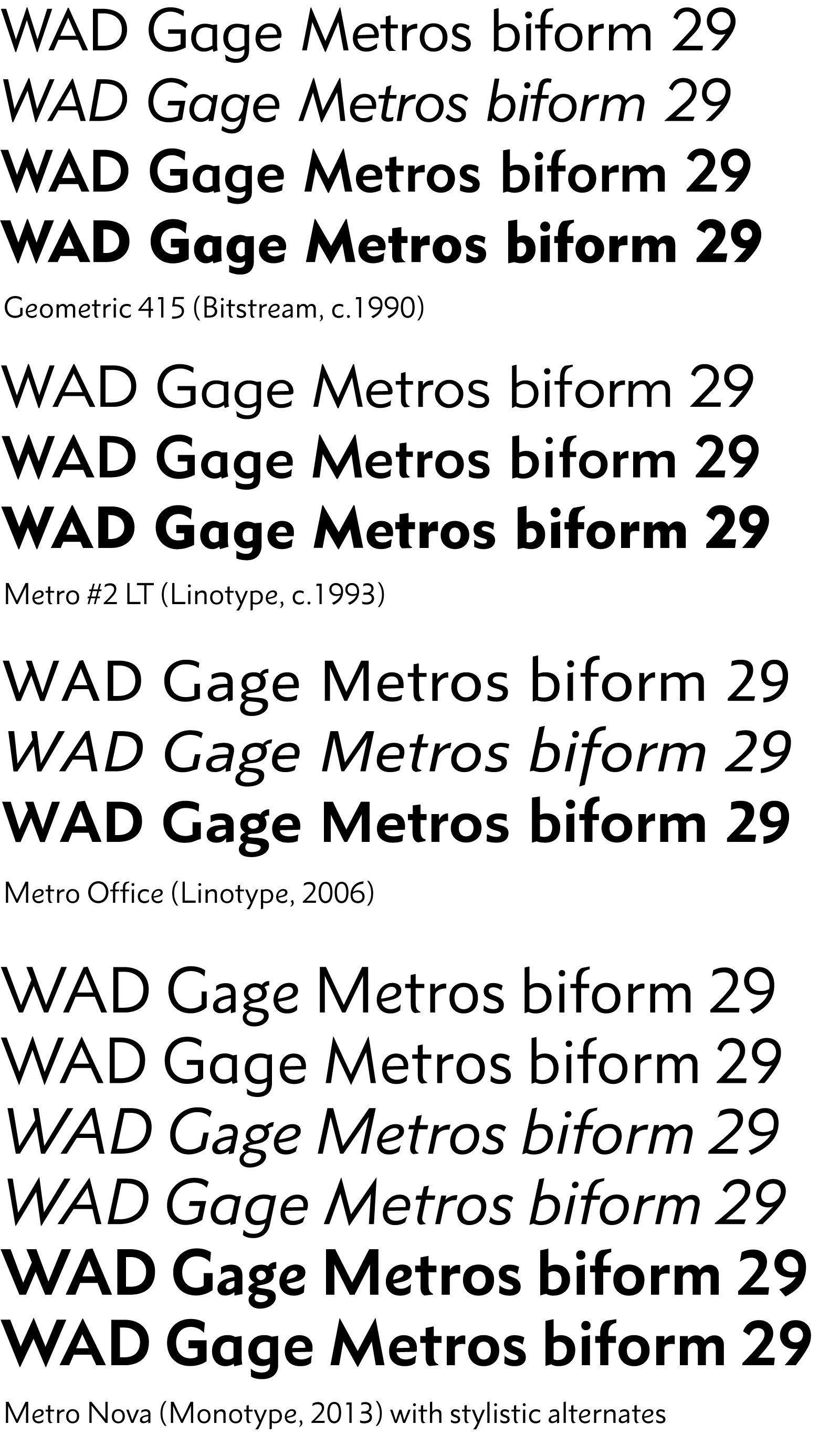 Digital versions of Metro compared.