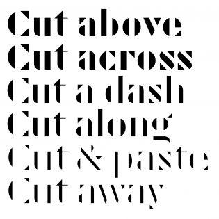 Cut fonts