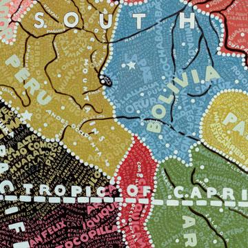 Paula Scher - South America Map