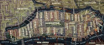 Paula Scher Manhattan Map
