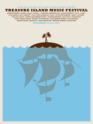 Treasure Island Music Fest poster Poster by Jason Munn