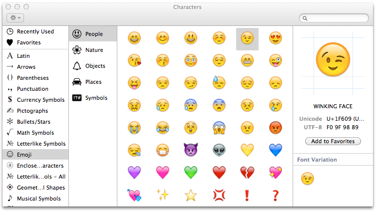 Apple Color Emoji Typographica