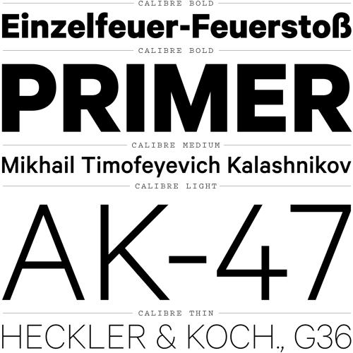 Calibre – Typographica