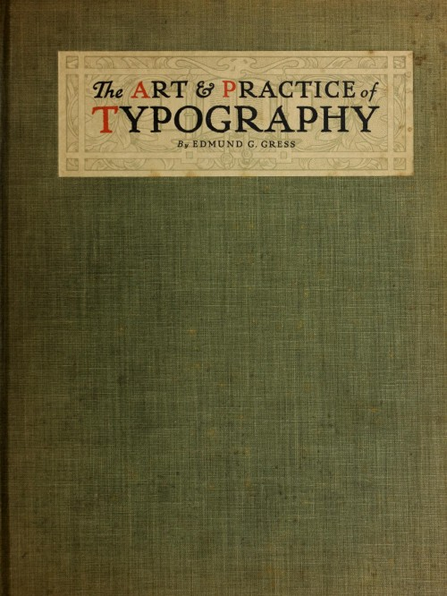 The Art & Practice of Typography (cover)