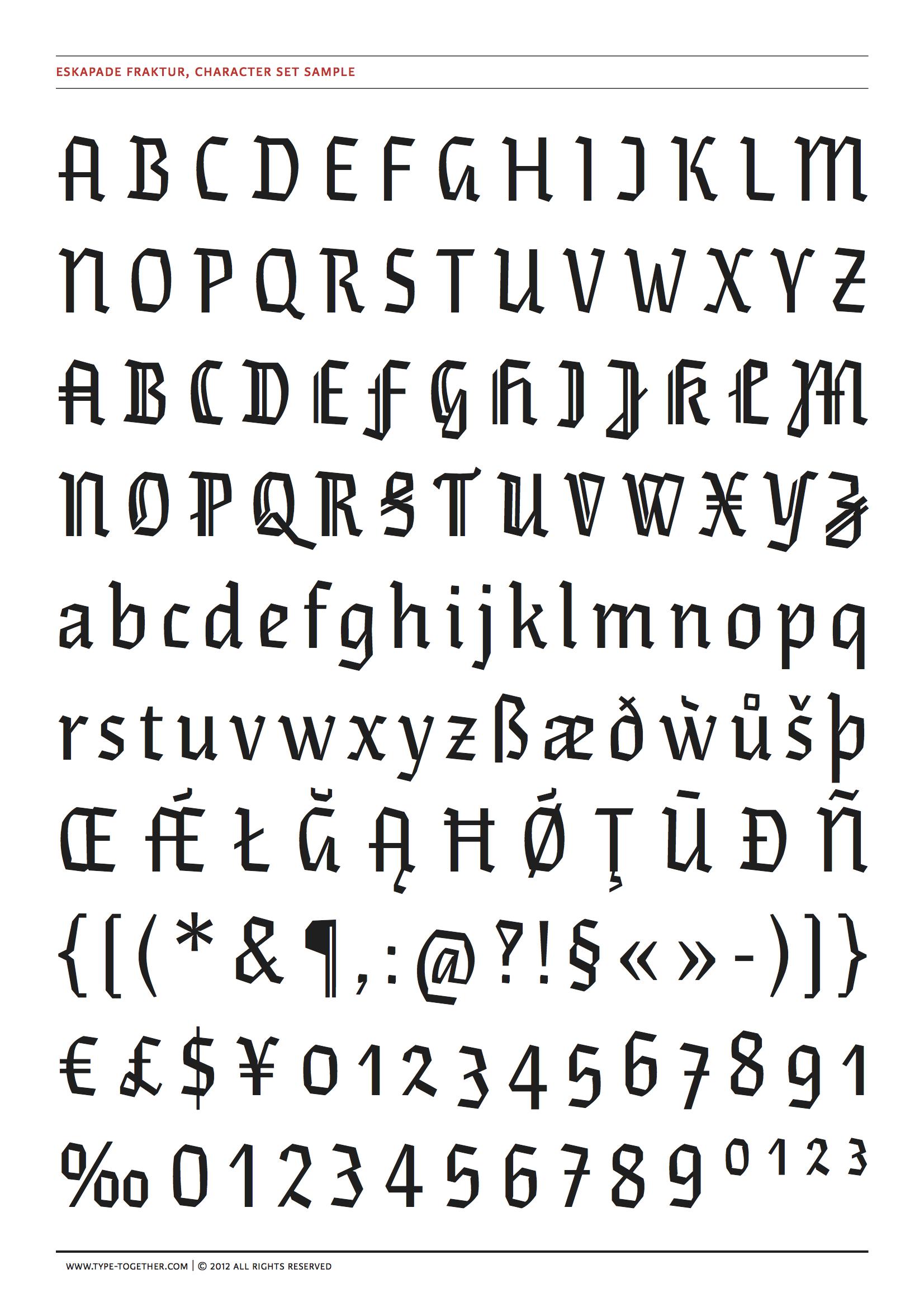 eskapade font