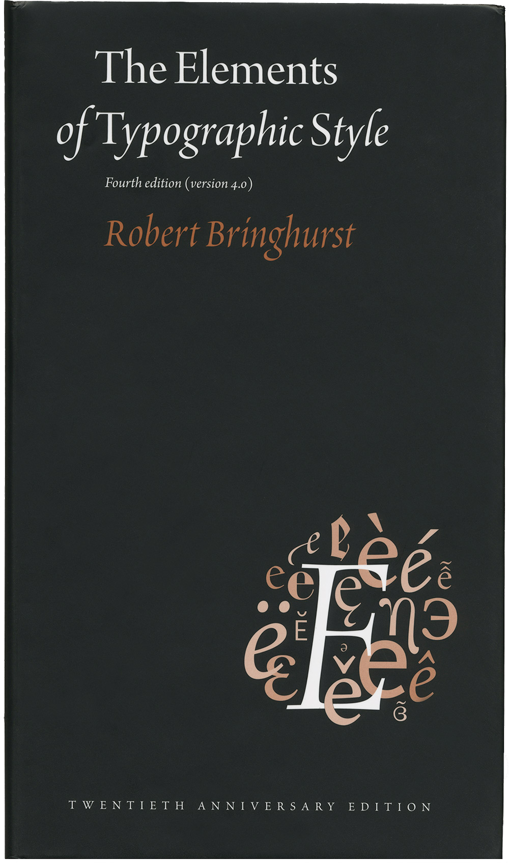 Typographic Book Cover Zwart ~ The elements of typographic style version typographica