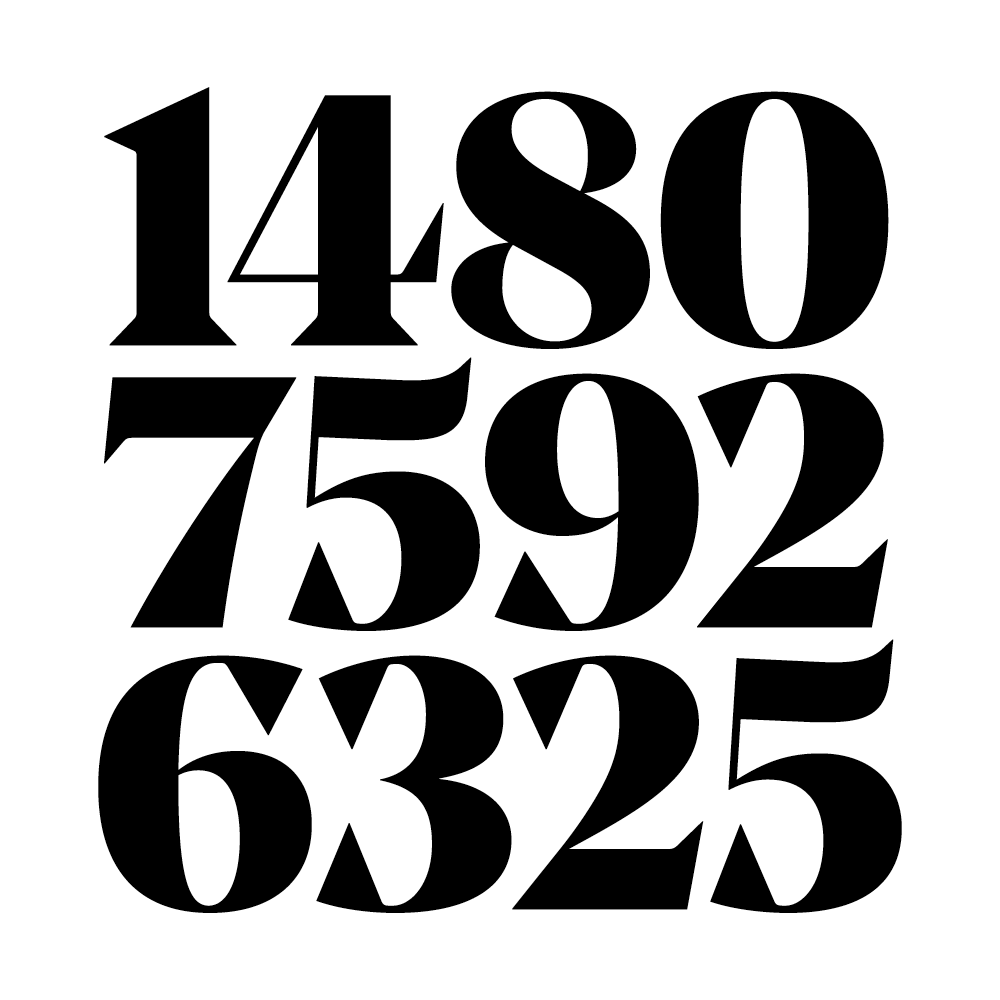 Noe display typographica for Blueprint number