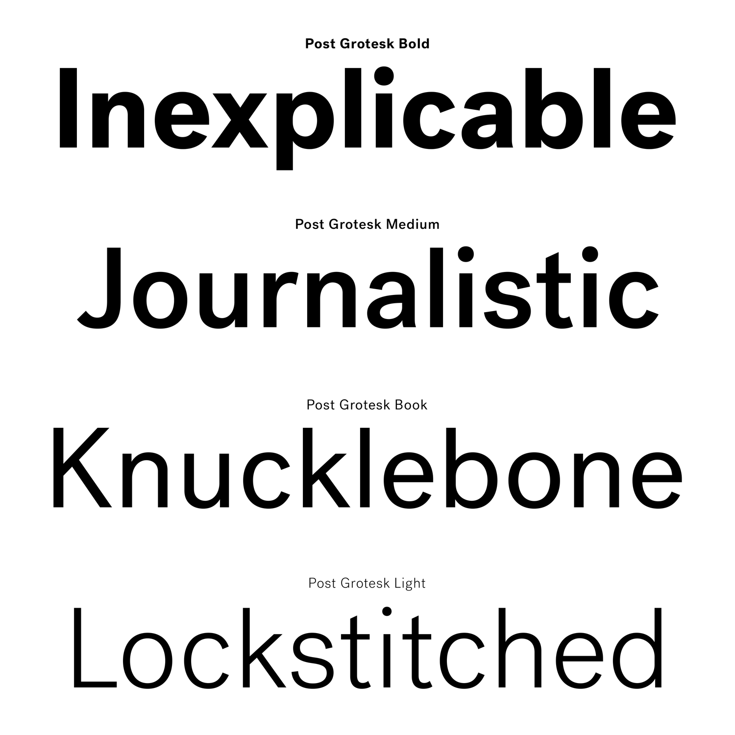 Post Grotesk – Typographica