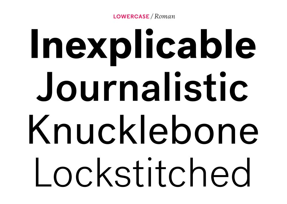 Post Grotesk – Typographica