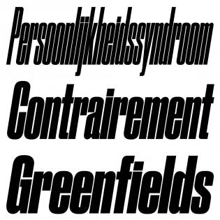 Druk Condensed, Italic
