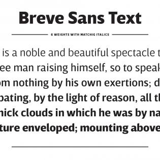 Breve Sans Text