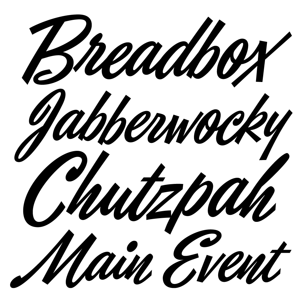 Eubie Script – Typographica